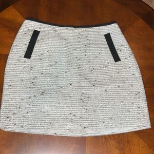 Banana Republic Tweed Metallic Skirt Size 6